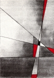 Kusový koberec Brilliance Grey/Red 21807/95 160 x 230 cm